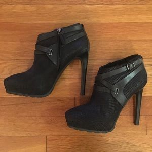 Black Guess Leather Bootie